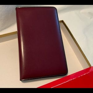 BOSCA APPOINTMENT BOOK IN FULL GRAIN LEATHER.